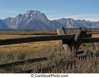 Wild West - Mountains and range land in the wild west -...