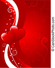 Valentines background - Abstract decorative Valentines...