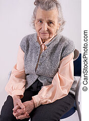 Healthcare - portrait of an elderly woman needs healthcare
