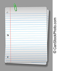Spotlight Notebook Paper Clip 2 Pages Background - Pages of...