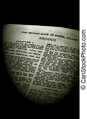 bible series exodus sepia - Detail of antique holy bible...