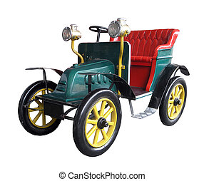 Vintage Toy Car isolated with clipping path