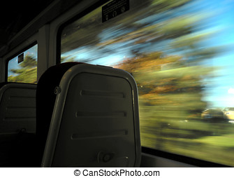 Country speeding train