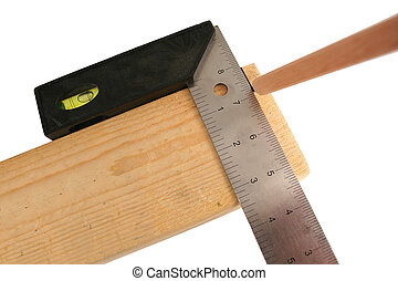 Carpenters square and pencil - A Carpenters square and...