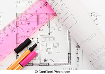Planning a house - Planning tools on floorplan