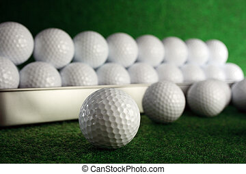 Golfballs in gift set for great play