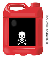 Red anti-freeze bottle - Artwork of a Red anti-freeze bottle