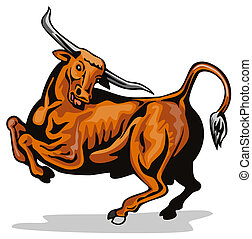Texas long horn - Artwork of a texas long horn bull