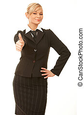 Business Woman - 20-25 years old Blond business woman...