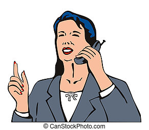 Business person on phone - Artwork of a business person