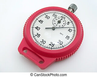 Stop watch - stop watch in the red rim