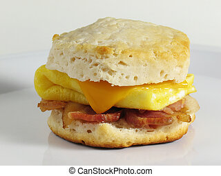 Bacon and Egg Biscuit - Start your morning right with this...