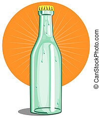 Softdrink bottle lime - Illustration of a Soft drink bottle...