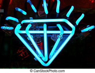 Neon Diamond Jewelry Sign