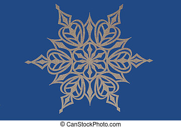 Snowflake on blue background - A Snowflake on blue...