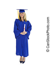 Garduation - A female caucasian with blond hair standing in...