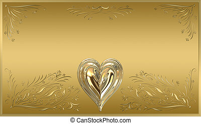 gold plaque - beautiful victorian style valentines plaque in...