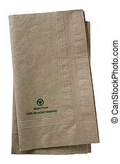 Recycled paper napkins - Clipping path included Made From...