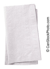 White napkins - Clipping path included. Stack of two white...