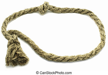 Lasso. - Decorative scope from a rough hemp rope with knots....