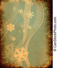 grunge design with snowflakes