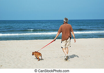 walking-the-dog - walking the dog at the silent beach