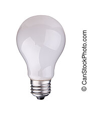 lightbulb - incandescent lightbulb isolated over white with...