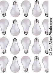 lightbulbs - incondescent lightbulbs isolated over white