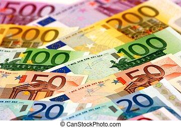 banconote, organizzato,  euro