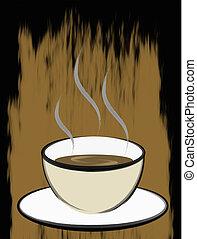 Coffee Brush Art