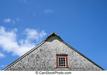 Roof of old rustic house