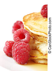 Pancakes with Raspberries - Pancakes with raspberries and...