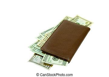 Marrom, talao cheque, Dinheiro