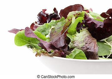 Mixed organic salad greens - Organic mixed salad greens in a...
