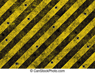 hazard stripes - old grungy yellow hazard stripes on black...