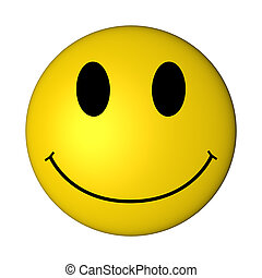 Smiley - Showing a great bright yellow smiley laughing