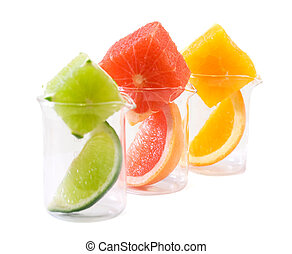 Food research - citrus mix - Mixed citrus chunks and slices...