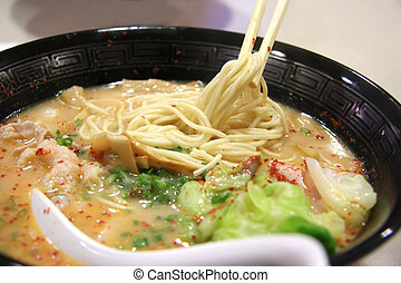 Japanese ramen pork soup noodles traditional cuisine