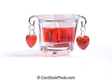 Special candle for 14th February - A bright red candle in...