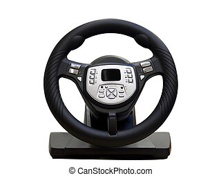Computer steering wheel Isolated on white