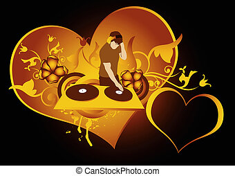love discotheque - st.Valentines day concept for...