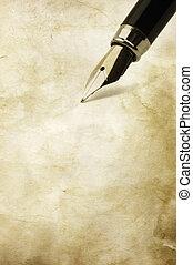 vendange, Écriture