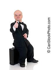 hombre de negocios, Enano, poco