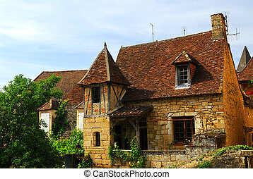 Medieval house in Sarlat, France - Medieval house in Sarlat,...