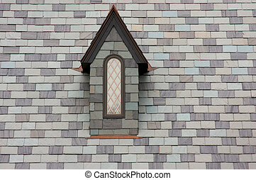 Abstract of New Tiled Roof Construction Window