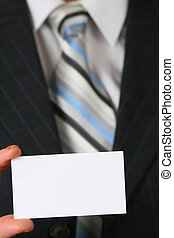 bussines card - blank business card in color white in front...