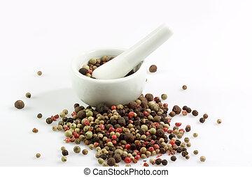 pimenta, grãos
