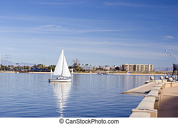Tempe Lake, Arizona - Sailors Weekend at Tempe Lake, Arizona...