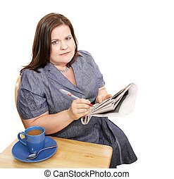 Businesswoman - Poor Job Market - Beautiful plus sized...