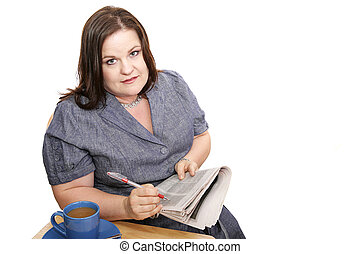 Businesswoman - Discouraging Job Hunt - Plus-sized...